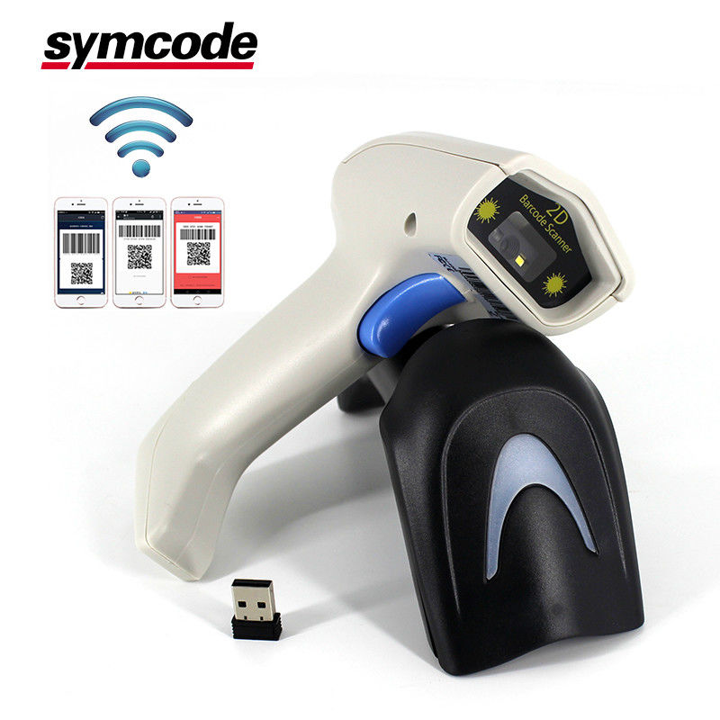 Portable Android RS232 Barcode Scanner / 2D QR Scanner Ultra Long Battery Life